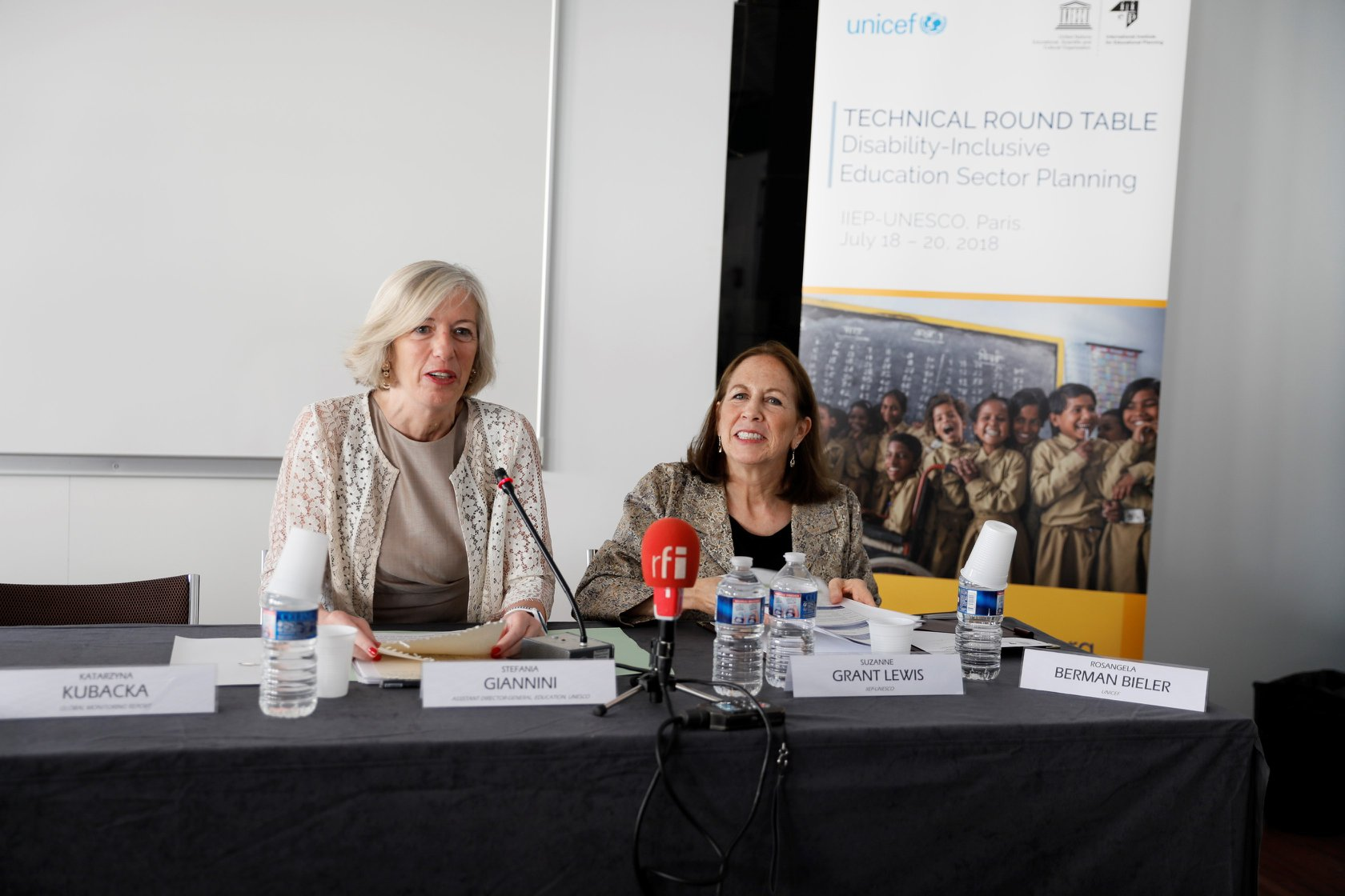 UNESCO Assistant Director for Education Stefania Giannini and IIEP Director Suzanne Grant Lewis