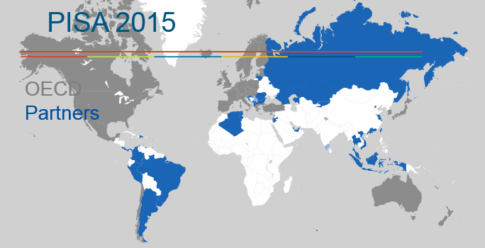 map_PISA_countries_economies_2015