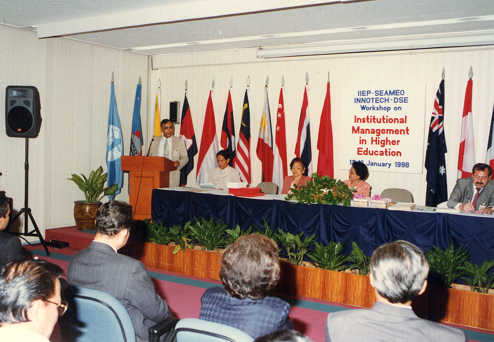 Workshop in the Philippines on institutional management of higher education, 1998