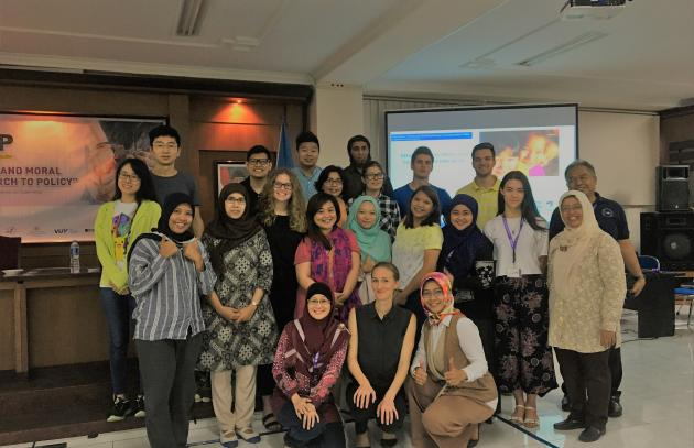 Group Photo From The Course In Yogyakarta Indonesia October 2017