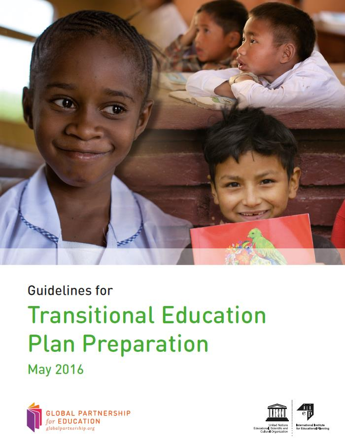 Cover Transitional education plan